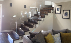 custom glass staircase